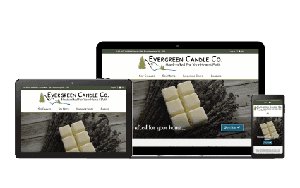 Evergreen Candle Co. Multiple Device Preview